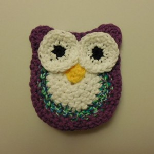 Set of 2 Handmade Crochet Purple, Twisted multi-Colored, White Owl Kitchen Dish / Pot Scrubbie   os165