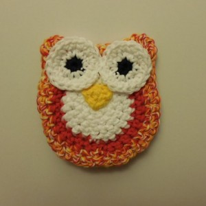 Set of 2 Owl Scrubbie , Dish / Pot Scrubby , Crochet Cleaning Scrubber , Multi - Colored Owl Scrubber , Handmade Tri - Colored Owl    os161