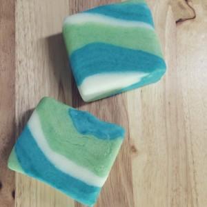 Sugar Scrub - 2 Rosemary Mint Shower mochi - Solid Body Scrubs