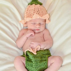 Newborn Crochet Flower Hat and Diaper Cover Set