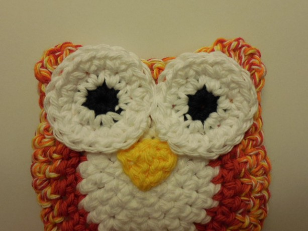 Set of 2 Owl Scrubbie , Dish / Pot Scrubby , Crochet Cleaning Scrubber , Multi - Colored Owl Scrubber , Handmade Tri - Colored Owl    os161