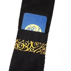 Tarot Bag, Black Silk Tarot Pouch, Mala Bag