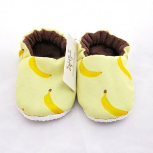 Baby Slippers, Banana Cloth Baby Shoes, Baby Shoes, Banana Fabric, Spring Shoes, Yellow and Brown Cloth Shoes