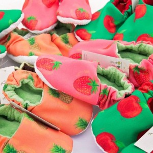Cloth Baby Shoes, Strawberry Baby Shoes, Baby Slippers, Original Fabric, Woodland, Spring Shoes, Pink Cloth Shoes
