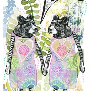 The Latest News - Bear Sisters Mini Print