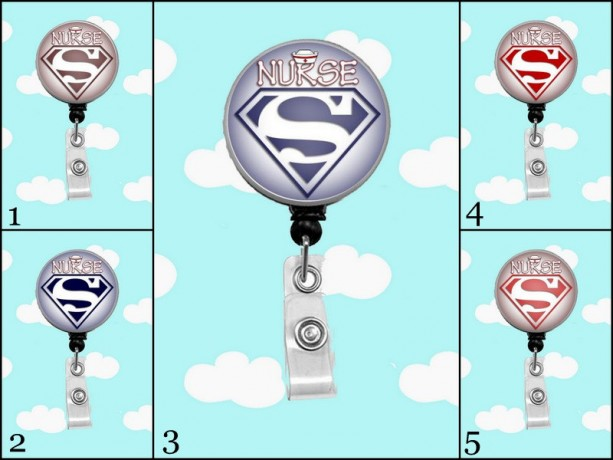 Super Hero Nurse Badge Reel