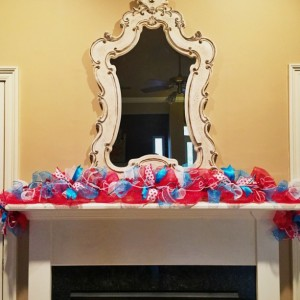 Modern Fourth of July garland