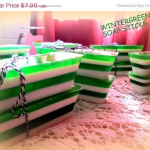 Wintergreen Soap Sticks~Minty Soap~Mentholated Soap~ Green Soap~Gift Sets~