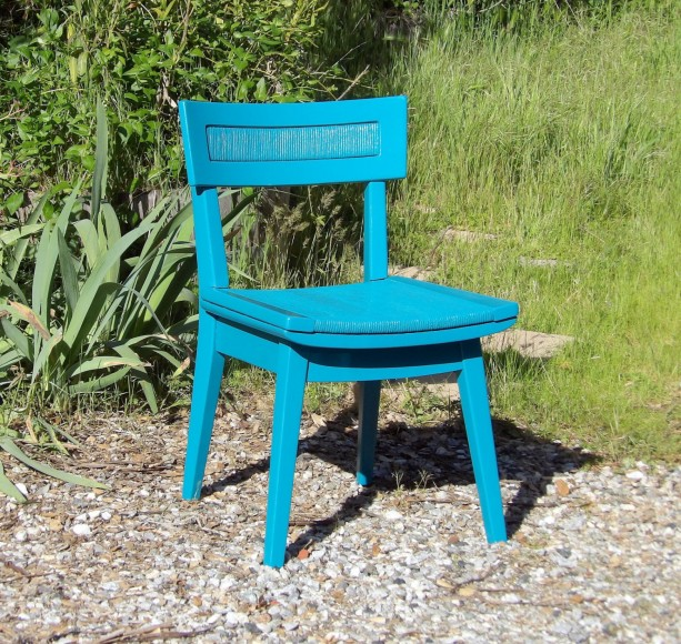 2 Chairs Vintage Pair Turquoise Teal Mid Century Modern