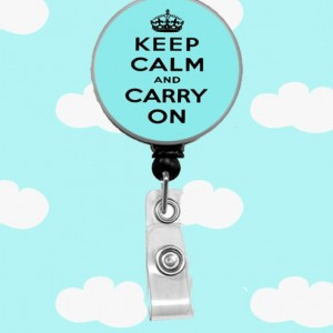 Keep Calm and Carry On Badge Reel