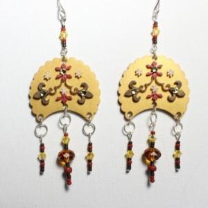 Large Boho Earrings, Bohemian Earrings For Her, Indie Gift