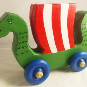 Wooden Baby Toy Dragon Ship. Handmade Viking Ship Push Toy Perfect For Any Baby Viking!