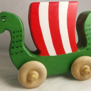 Wooden Toy Push Toy Dragon Ship! Viking Themed Handmade Wood Toy Boat Toy Ship Perfect Toy For Any Baby Viking! By Norse Kid Crafts