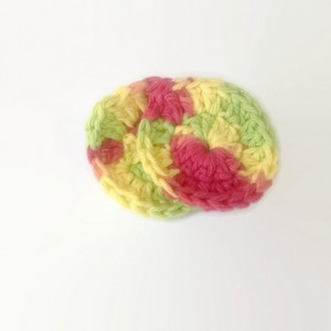 scrubbies - face scrubbies - cotton scrubbies - multicolor scrubbies - crochet scrubbies - cotton washcloth - cotton makeup remover