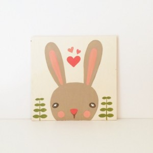 Baby Girl Nursery Art - Woodland Nursery Art - Woodland Animals - Bunny Art - Baby Shower Gift - Girls Room Decor - Kids Wall Art