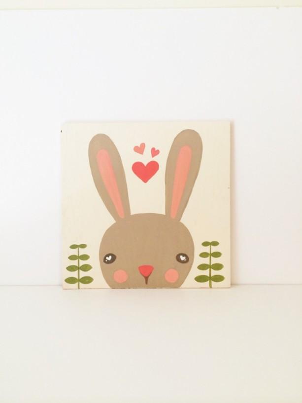 Baby Nursery Art Woodland Animals Bunny