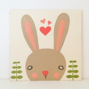 Baby Girl Nursery Art - Woodland Nursery Art - Woodland Animals - Bunny Art - Baby Shower Gift - Girls Room Decor - Kids Wall Art
