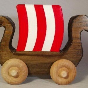 Wood Toy Handmade Viking Ship Dragon Boat Toy For Baby or Toddler Heirloom Waldorf Toy Wooden kids toy