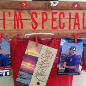 """Display Board Handmade """"I'm Special"""" Art, Pictures, Scraves, Delicates"""
