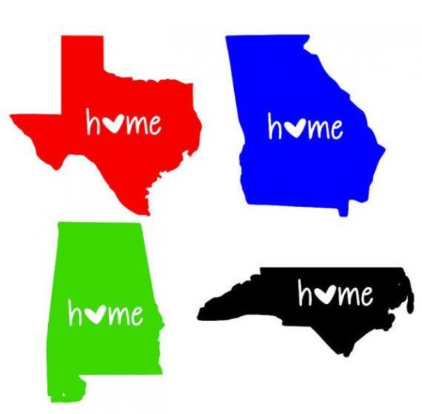 Personalized Home State Custom Decals-Car, laptop, tablet, wall decals, cup, phone