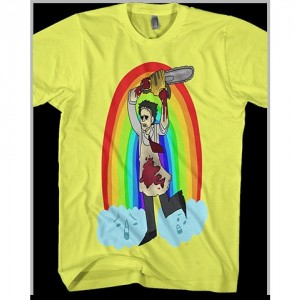 Men's Texas Rainbow Massacre Leatherface Rainbow Mega Attack shirt