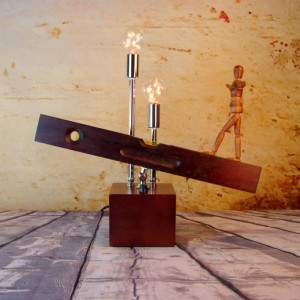 Lighting - Lamp - Upcycled - Vintage Carpentry Level - Light