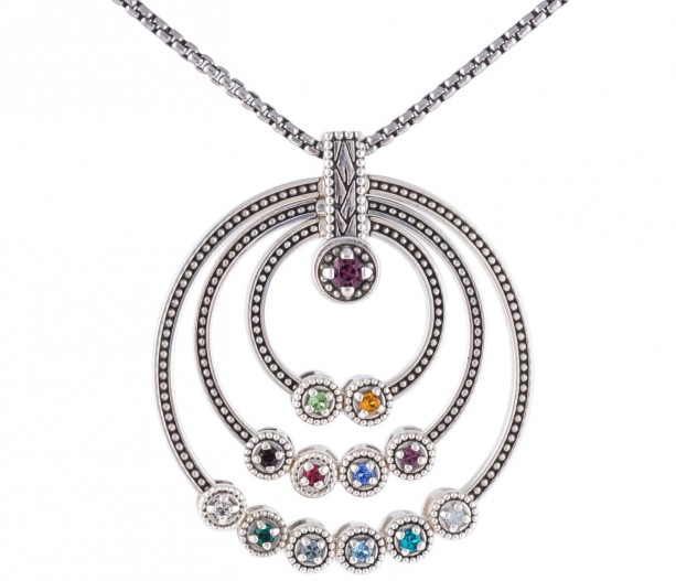 Great grandmothers birthstone necklace aftcra for Grandmother jewelry you can add to