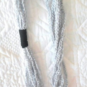 Crocheted Chain Necklace - Grey, Black and Fun - Makes a Great Gift - Perfect for Summer or Spring - Great for teens and young adults