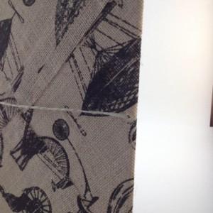 London Burlap Picture, London Art, British Decor // ready to hang, FREE SHIPPING