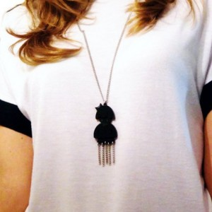 Modern Chic Jellyfish Necklace, Black Acrylic Necklace, Cute Fashion Gift