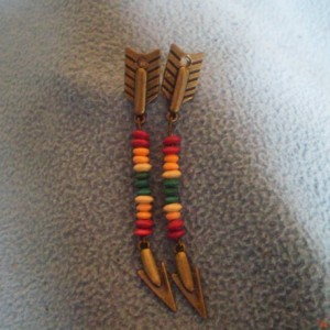 Multi Color Bead Arrow Post Earring