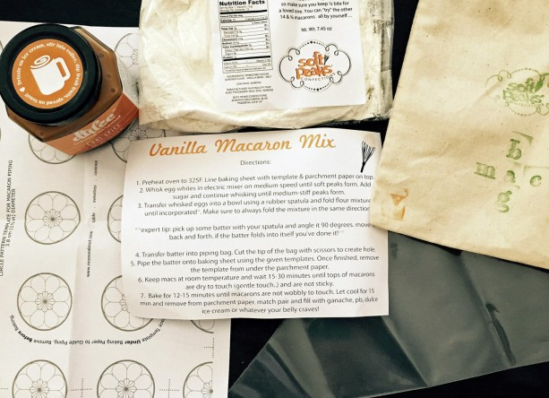 DIY Vanilla French Macaron Baking Mix+Chocolate Chipotle Dulce Caramel Filling,The perfect baking gift for any macaron or baked goods lover