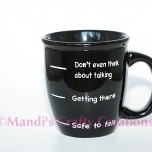 Personalized funny not a morning person humor coffee cup, Father's Day, Holidays, Gifts, coffee Cup, Coffee mug, Coffee, Family, Morning