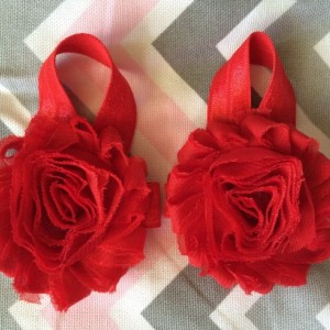 Barefoot Baby Sandals, Red Barefoot Baby Sandals, Newborn Barefoot Sandals, Flower Sandals, Toddler Sandals, READY TO SHIP