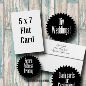Blank Cards with Envelopes and Return Address Printing (25) White 5x7 A7 for Diy Weddings, Diy invitations, card making kit, Craft Supplies