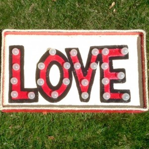 "Lighted Marquee ""Love"" Sign (Red) Handmade Original"