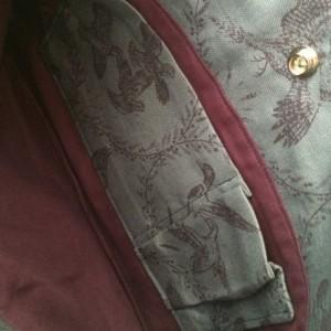 Medium Handbag Purse in Vintage Blue Bird