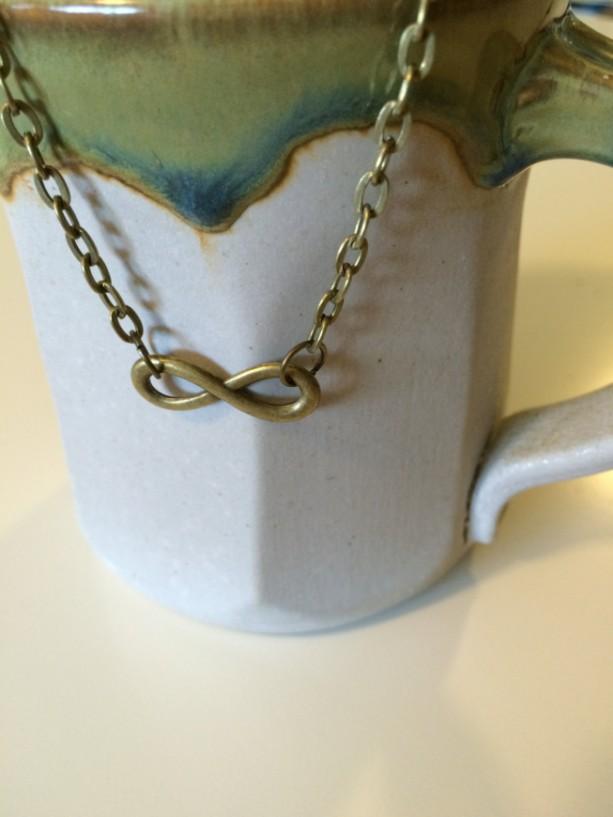 Antique Bronze Infinity Pendant Necklace