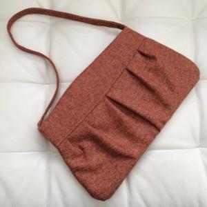 Medium Handbag Purse in Red Orange