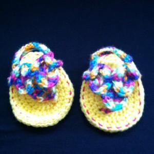 Crochet Newborn Crocodile Stitch Flip Flops
