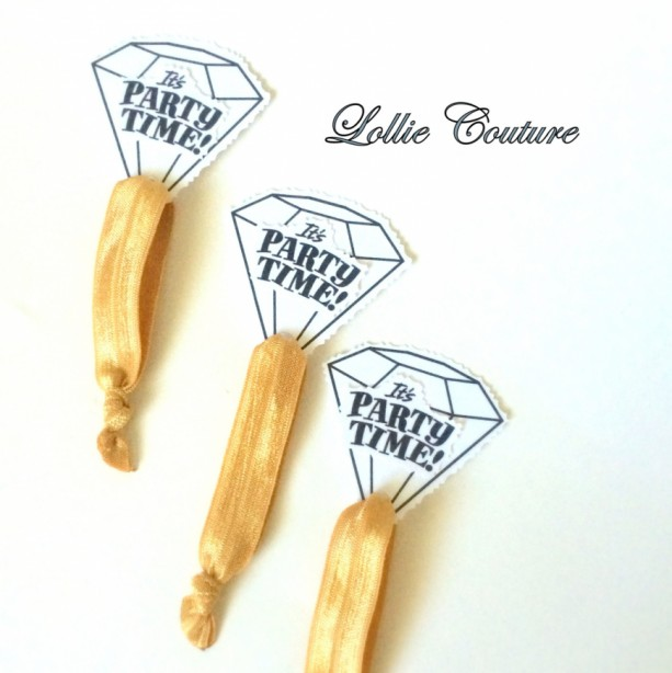 10 hair Bachelorette Party Favors Accessories Bridesmaids Hen Party Diamond Ring Gold Team Bride
