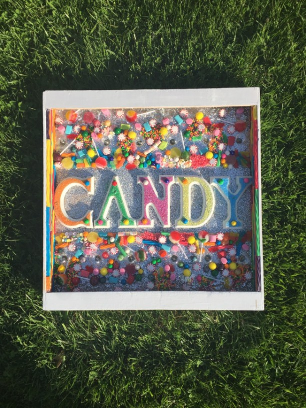 Handmade original Lighted CANDY Marquee Sign