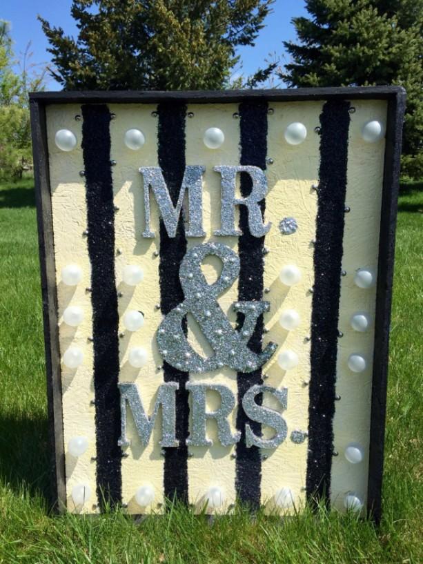 Large Mr. & Mrs. Wedding Venue Marquee