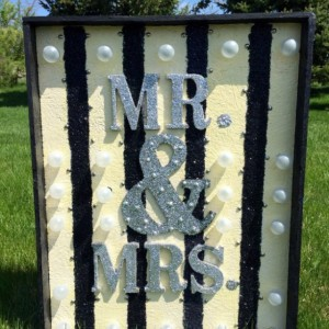 Mr.&Mrs. Wedding Marquee Sign/Wedding Venue Decor (Handcrafted)