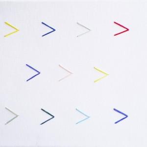 A Minimalist Arrow Embroidery