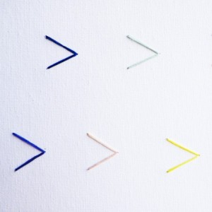 A Minimalist Arrow Embroidery