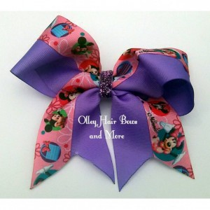 Minnie Cheer Hair Bow - Minnie  Hair Bow - Purple Pink Hair Bow -  Minnie Accessories - Purple Pink  Accessories