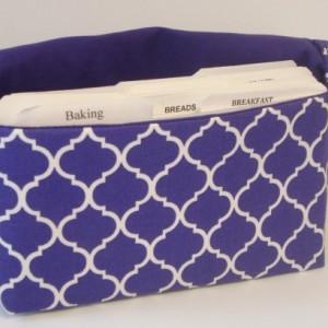 Coupon Organizer Cash Budget Organizer Holder- Attaches to your Shopping Cart  - Quatrefoil Purple