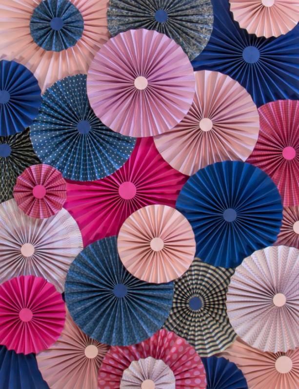 25pc set of pink fuchsia navy blue paper pinwheels rosette paper 25pc set of pink fuchsia navy blue paper pinwheels rosette paper flower party decoration wedding birthday mightylinksfo