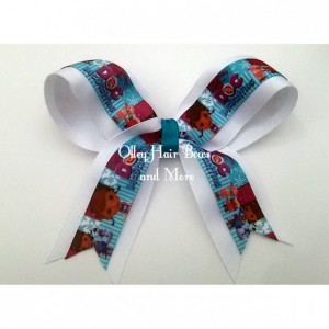 Doc McStuffins Cheer Hair Bow - Doc Hair Bow - Doc McStuffins Hair Bow -  Doc McStuffins Accessories - Teal Purple  Accessories